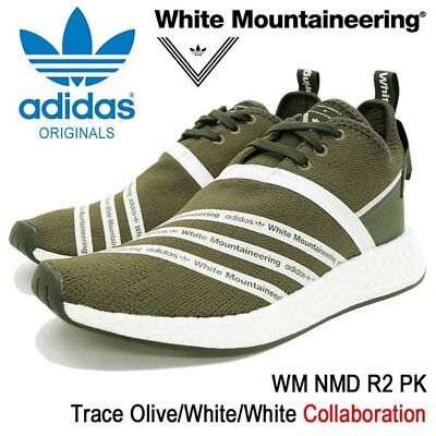 f52b0b37a Adidas NMD R2 PK Trace Olive Cargo Green White Boost Shoes CG3649 Men s 11  Shoes