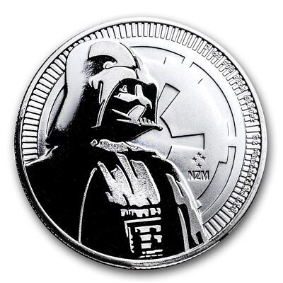 2017 Niue Star Wars Darth Vader $2 BU 1 oz Silver Coin with Capsule