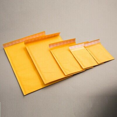 Gold Padded Bubble Envelopes Bags Postal Wrap - Various Quantites - All Sizes