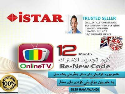 iStar korea Renew Online tv code12 months Guaranty