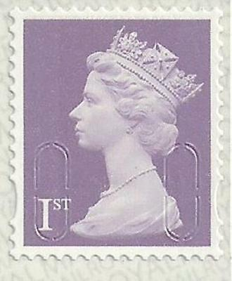 200 Off Paper, Unfranked First 1st Class Lilac Stamps u