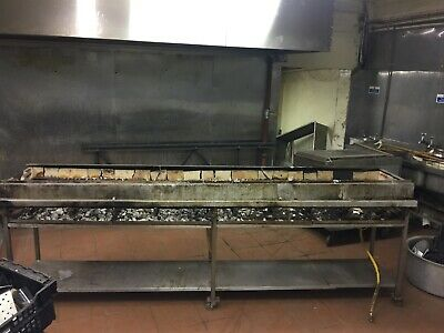 Commercial Manual Charcoal Grill BBQ Catering Seekh Kebab Restaurant Gas