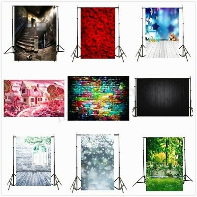 5x7ft VInyl Photography Backdrop Studio Photo Wood Wall Floor Background Prop