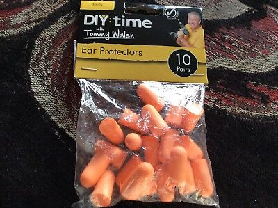 Ear Protectors - 10 pairs of Orange Ear Plugs