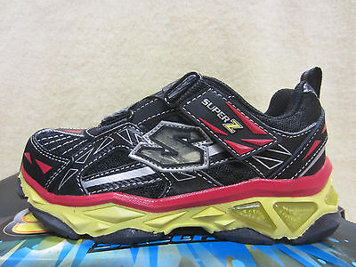 c2ea2d34701e New Skechers S LIGHTS-GALVANIZED Boys Size 11 Shoes Black Yellow Red 90450L