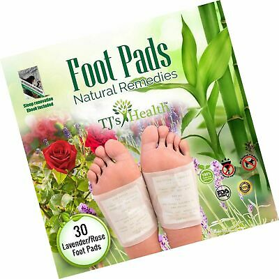 Foot Pads | 30 Premium Natural Foot Patches | Reflexology | Lavender & Rose