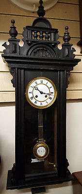Vintage Gustav Becker Ebonised Vienna Wall Clock with Strike