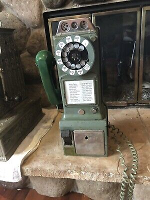 antique Western Electric Pay phone Rotary Payphone Telephone
