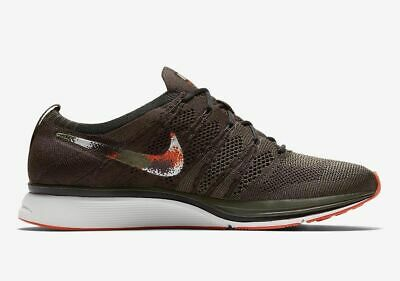 the latest b3485 74cd1 New Mens Size 9 Nike Flyknit Trainer Running Shoes Ah8396 202 Olive   Brown
