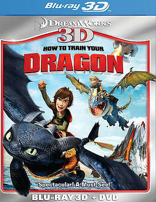 How to Train Your Dragon  [Blu-ray 3D + DVD] Widescreen, Subtitled BRAND NEW