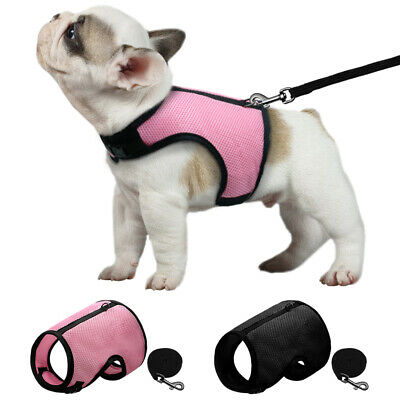 Soft Pet Mesh Harness With Leash Small Animal Vest Lead for Hamster Rabbit Bunny