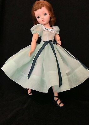 Vintage organdy party dress & slip made for Mme Alexander Cissy doll