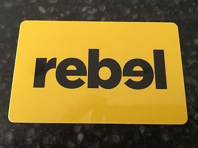 Rebel Store Gift Card $75.00 Value New Expires 2021