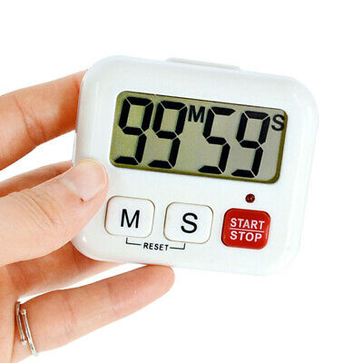 Kitchen Cooking Timer Large LCD Digital Loud Alarm Sport Countdown Calculator