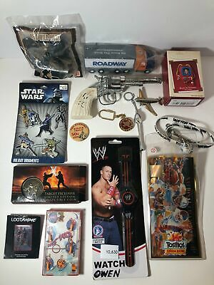 Junk Drawer Lot ~ Vintage Toy Gun, Star Wars Ornaments, Pass the Puck Pin Ball G