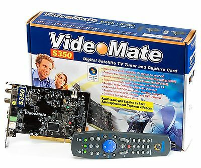 Compro VIDEO MATE S350___Digital Satellite TV Tuner & Capture  *** BRAND NEW ***