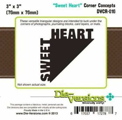 Die-versions - Sweet Heart corner concepts die - for use in most cutting systems