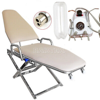 Dental Surgical Portable Folding Chair + Air Turbine Unit 4-Hole Ocean Shipping!