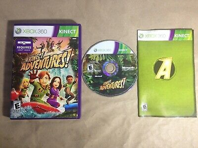 Kinect Adventures! (Microsoft Xbox 360 2010) Complete With Manual Ships Fast