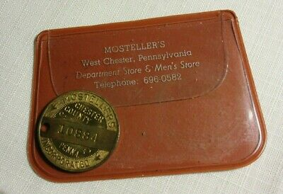 WEST CHESTER PA ~ MOSTELLERS CHARGE COIN  n PLASTIC CASE ~ MEDAL TOKEN