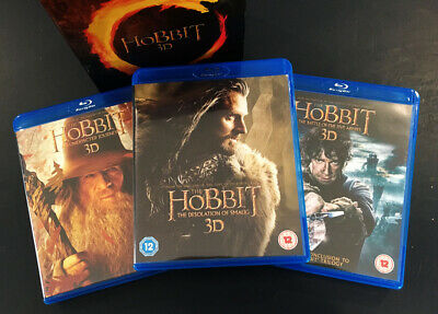 THE HOBBIT TRILOGY [Blu-ray 3D + 2D] Box Set Theatrical 3-Movie Collection