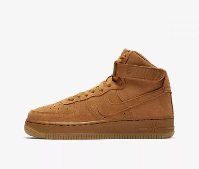 uk availability bbf75 e59f3 Nike YOUTH Air Force 1 High LV8 (GS) WHEAT SIZE 7Y, FITS WOMEN S