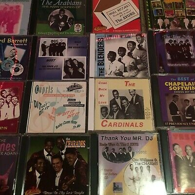 120+ Doo Wop Single Group / Artist CDs ~ All Listed ~ Many scarce OOP discs