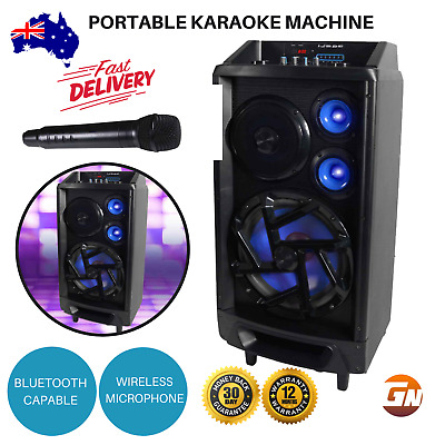 Portable Karaoke Machine Bluetooth Home Audio Speaker FM Wireless Microphone