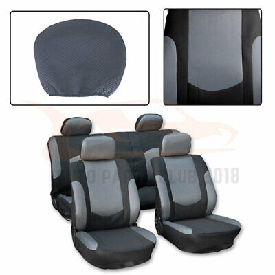 10 Pieces For 2012 2013 2017 Toyota Camry Black Semi Pu Leather Car