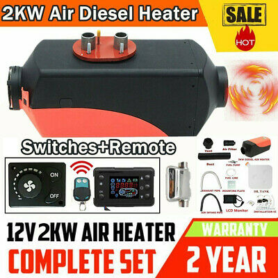UK 2KW diesel Air Heater Planar 2000W 12V For Motorhome Trucks Boats Silencer FB