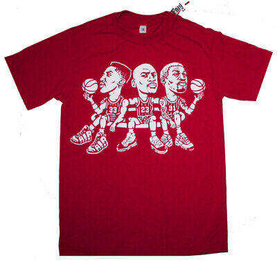 New Red Chicago Trio shirt match Scottie Pippen Jordan Rodman air uptempo xi 11