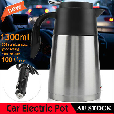 12V Car Electric Kettle Auto Travel Heated Cup Water Heater Heating Jug 1.3L