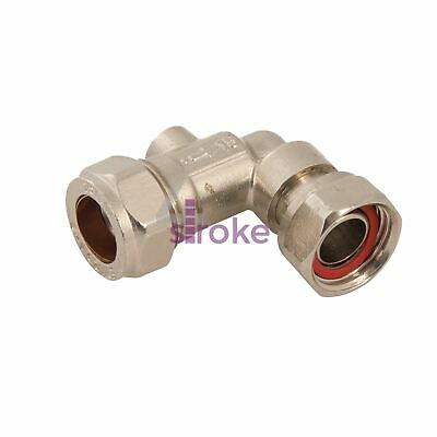 """Service Valve 15mm x 1/2"""" Angled Durable Brass Stainless Steel & Polymer"""