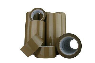 36x Brown Packing tape sticky Packaging Brown 75mx48mm