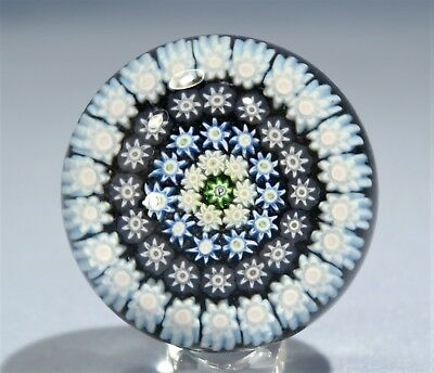 Perthshire English Hand blown Glass Paperweight Millefiori Cones 20th Century