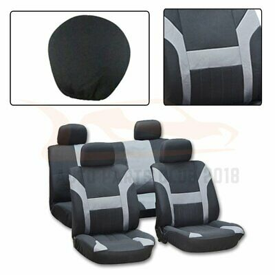 10 pieces For 2006 2007-2010 Ford F-150 Black Gray Mesh Cloth Car Seat Covers