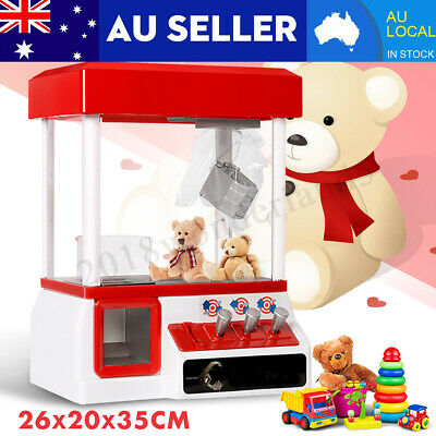 Carnival Style Vending Arcade Claw Grabber Candy Prize Machine Game Kids Toy