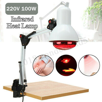 220V 100W Floor Stand Infrared Heat Lamp Therapy Physiotherapy Light Pain Relief