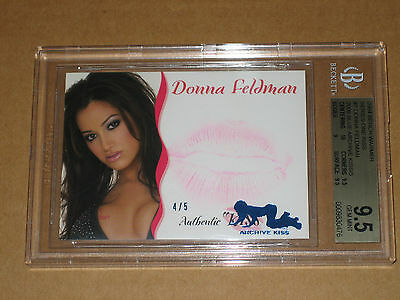 BGS 9.5 DONNA FELDMAN BENCHWARMER 2004 2009 ARCHIVE KISS SEXY playboy model card
