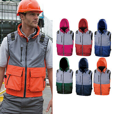Result Work-Guard X-Over Microfleece Lined Gilet (R335X) - PPE Padded Bodywarmer