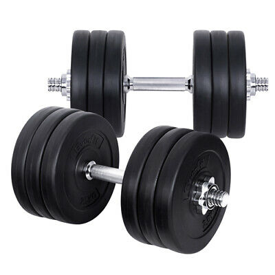 Everfit Fitness Gym Exercise Dumbbell Set 35kgs Adjustable Weight Plates Workout
