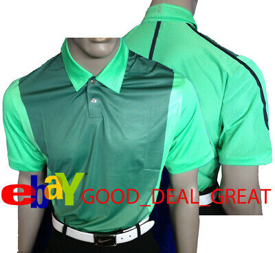 580a5d5f Nike TW Tiger Woods Perforated Panel Polo Shirt 542068-422 > *Rare to Find
