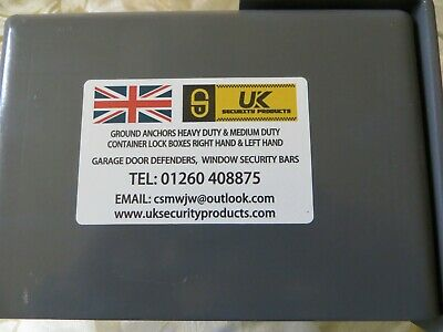 SHIPPING CONTAINER BOLT ON LOCK BOX LEFTHAND OPENING DOOR SECURITY with out lock