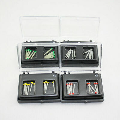 10 Pcs Dental Fiber Post Glass Set Refill Drill Thread Files 1.0/1.2/1.4/1.6/1.8