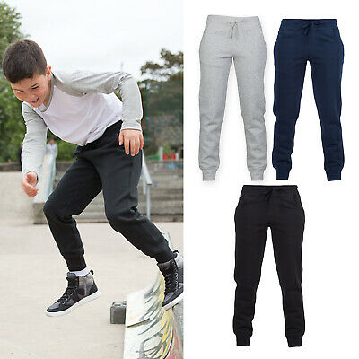 SF Mini Kids Slim Cuffed Jogger SM425 - Children Sportswear Fitness Trousers