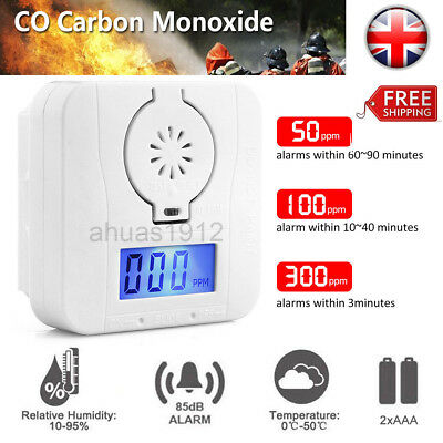 LCD-CO-Carbon Monoxide Detector Poisoning Gas Warning Sensor Monitor Alarm