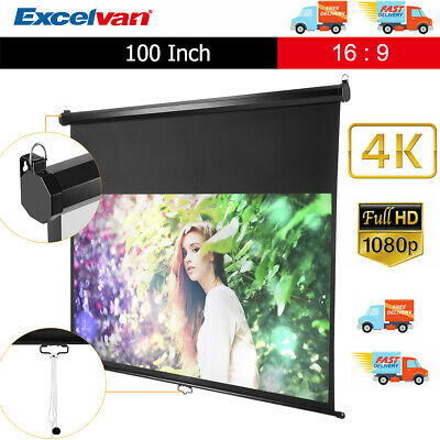 100-inch 16:9 3D Electric Motorized Wall Ceiling HD Projector Projection Screen