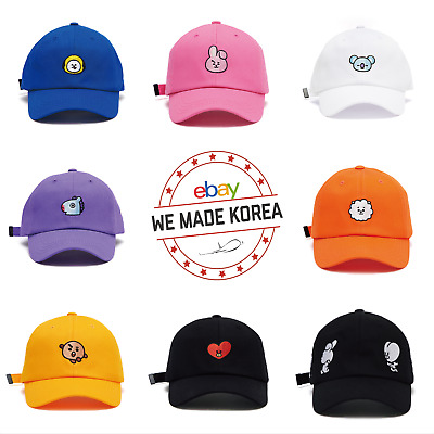 BTS BT21 Ball Cap Hat 8 Characters Free Size Official K-Pop Authentic Goods