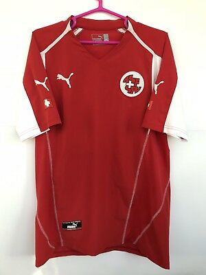 4aa9fda16 Switzerland Swiss National Team 2004 2006 Puma Home Football Soccer Shirt  Jersey