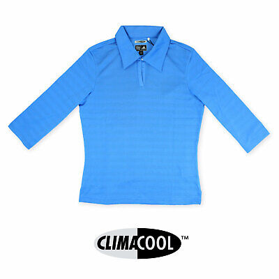 ADIDAS Ladies Womens Blue Golf Polo Shirt Top Climacool Coolmax Size 10 14 18 22